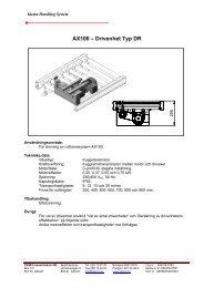 AX100 – Drivenhet Typ DR - Idema Industriteknik AB