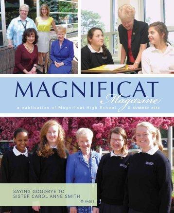 Magnificat Magazine–Summer 2013 - Magnificat High School