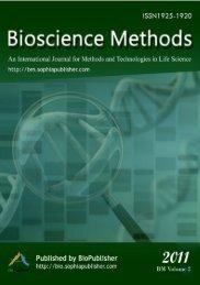 Bioscience Methods - Sophia Publishing Group