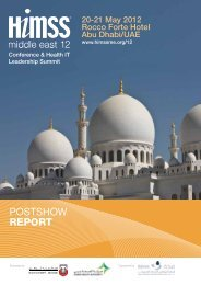 POSTSHOW RepoRt - HIMSS Middle East