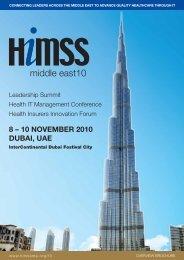 HIMSS ME [Pre-Conf] Dubai - HIMSS Middle East