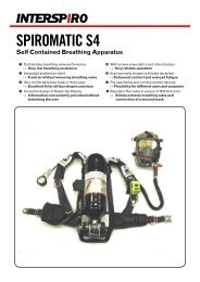 SPIROMATIC S4 Self Contained Breathing Apparatus - Interspiro
