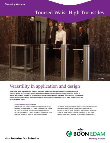 Waist High Turnstile Brochure