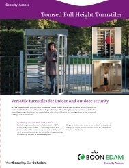 Full Height Turnstile Brochure - Eastern Door Service