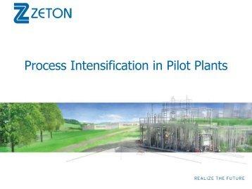 Intensification in pilot plants - Traxxys