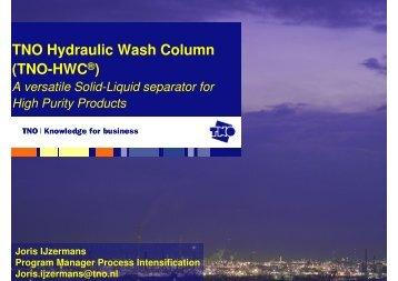TNO Hydraulic Wash Column (TNO-HWC®) - Traxxys