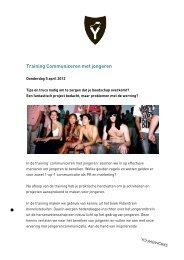Training Communiceren met jongeren - YoungWorks Blog