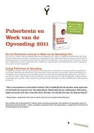 Puberbrein en Week van de Opvoeding 2011 - YoungWorks Blog