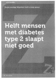 Helft mensen met diabetes type 2 slaapt niet goed - Weten & Eten