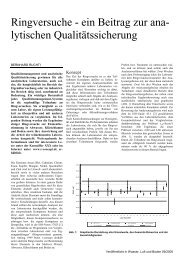 Ringversuche - ein Beitrag zur ana- lytischen ... - R-Concept