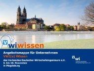 Weitere Möglichkeiten - VWI Hochschulgruppe Magdeburg