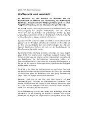 Waffenrecht wird verschärft - Gerhard Kirchner