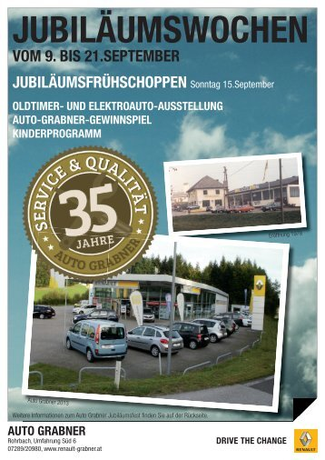 Jubiläumsfolder downloaden - Auto-Grabner GmbH