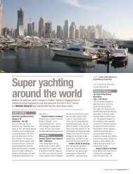 Super yachting around the world - UPWARD CURVE
