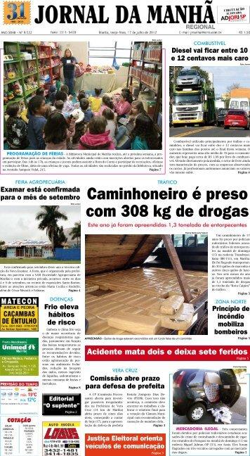Caminhoneiro é preso com 308 kg de drogas - Jornal da Manhã