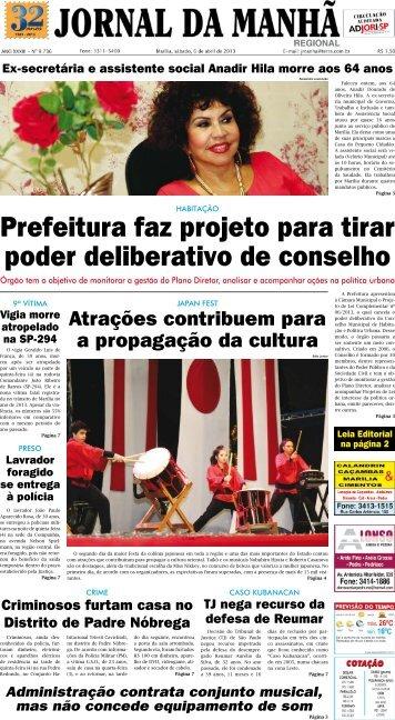 Prefeitura faz projeto para tirar poder deliberativo ... - Jornal da Manhã