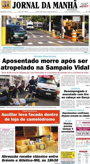 Aposentado morre após ser atropelado na ... - Jornal da Manhã