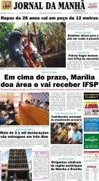 Em cima do prazo, Marília doa área e vai receber IFSP