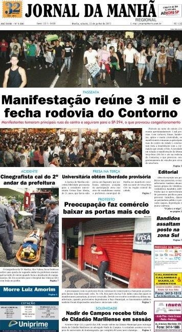 Manifestação reúne 3 mil e fecha rodovia do ... - Jornal da Manhã