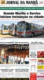 Grande Marília e Sorriso iniciam instalação na ... - Jornal da Manhã