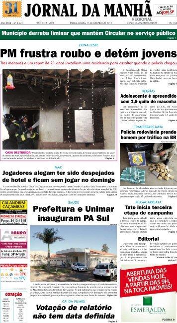 PM frustra roubo e detém jovens - Jornal da Manhã