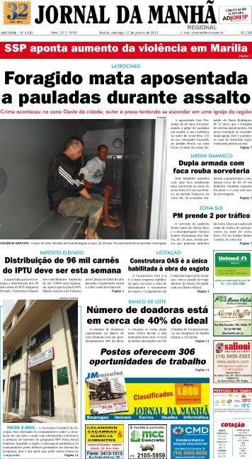 Foragido mata aposentada a pauladas durante assalto