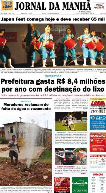Prefeitura gasta R$ 8,4 milhões por ano com ... - Jornal da Manhã