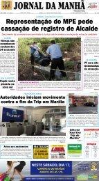 Representação do MPE pede cassação de ... - Jornal da Manhã