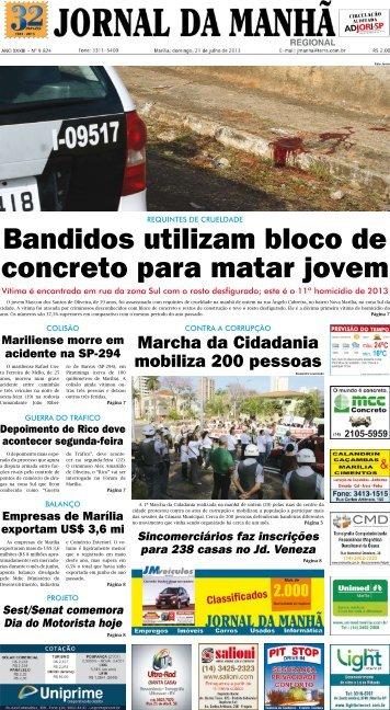 Bandidos utilizam bloco de concreto para matar ... - Jornal da Manhã