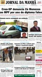 Crea-SP denuncia Zé Menezes ao MPF por uso ... - Jornal da Manhã