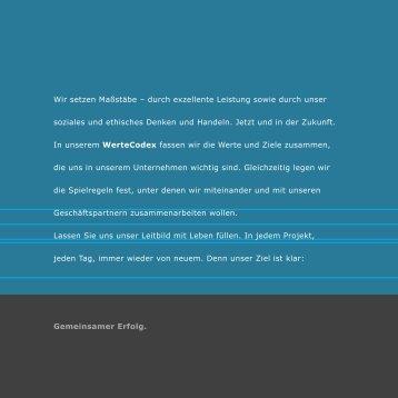 Broschüre Mader WerteCodex