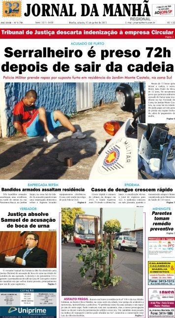 Tribunal de Justiça descarta indenização à ... - Jornal da Manhã