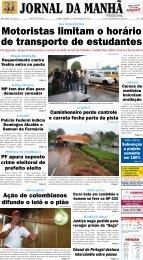 Motoristas limitam o horário de transporte de ... - Jornal da Manhã