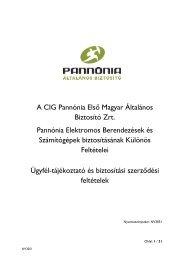 Elektromos Berendezések Biztosítás Különös Feltételei ... - Oberbank