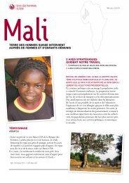 Fiche descriptive Mali - Terre des Hommes Suisse