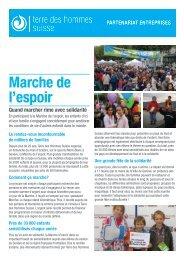 Marche de l'espoir - Terre des Hommes Suisse