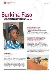 Fiche descriptive Burkina Faso - Terre des Hommes Suisse