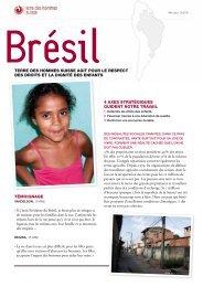 Fiche descriptive Brésil - Terre des Hommes Suisse