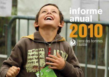 informe anual - Terre des Hommes Suisse