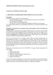 (Section Romande), Genève ANNEXE AUX COMPTES ANNUELS ...