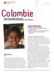 Fiche descriptive Colombie - Terre des Hommes Suisse