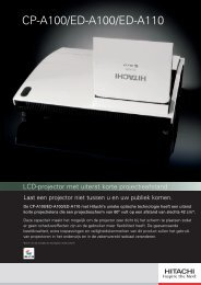 Folder Hitachi Projector ED-A110 - Brink Techniek