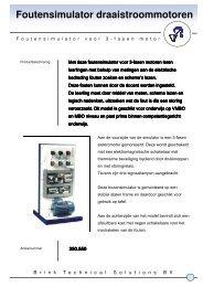 Folder foutensimulator draaistroommotoren - Brink Techniek