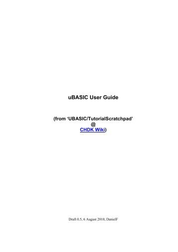 chdk magazines rh yumpu com Quick Start Guide Word Template iPad Quick Start Guide