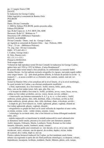 pp. 2-3 pagini fisiere CDR DANTE În traducerea lui ... - nocookie.net
