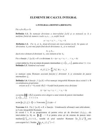 ELEMENTE DE CALCUL INTEGRAL - Wikia