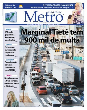 Marginal Tietê tem 900 mil de multa - Metro Magazine