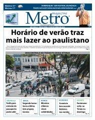 Horário de verão traz mais lazer ao paulistano - Metro Magazine