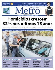 Homicídios crescem 32% nos últimos 15 anos - Metro Magazine