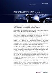 PRESSEMITTEILUNG - Juli 10 - WEGMANN automotive